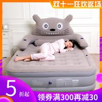 曼芙雅龙猫充气床垫家用单人双人加厚加高气垫床卡通可爱折叠便携