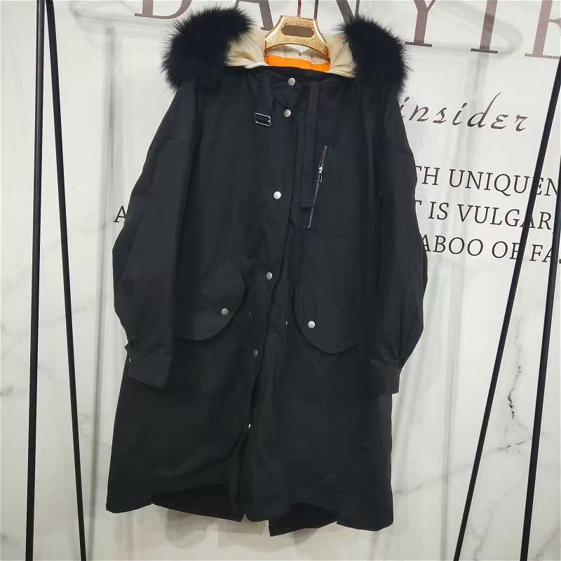 超大真毛领棉被羽绒服行走的电热毯羽绒服 XLJ1801