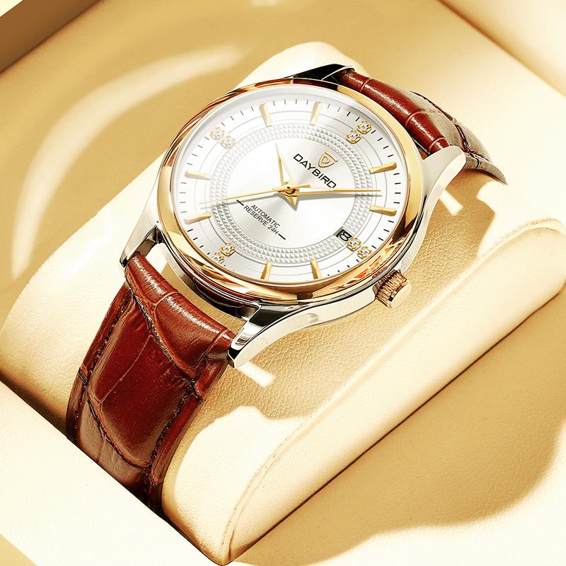 Swiss genuine mens watch automatic mechanical watch hollow new concept waterproof luminous trend brand mens Watch