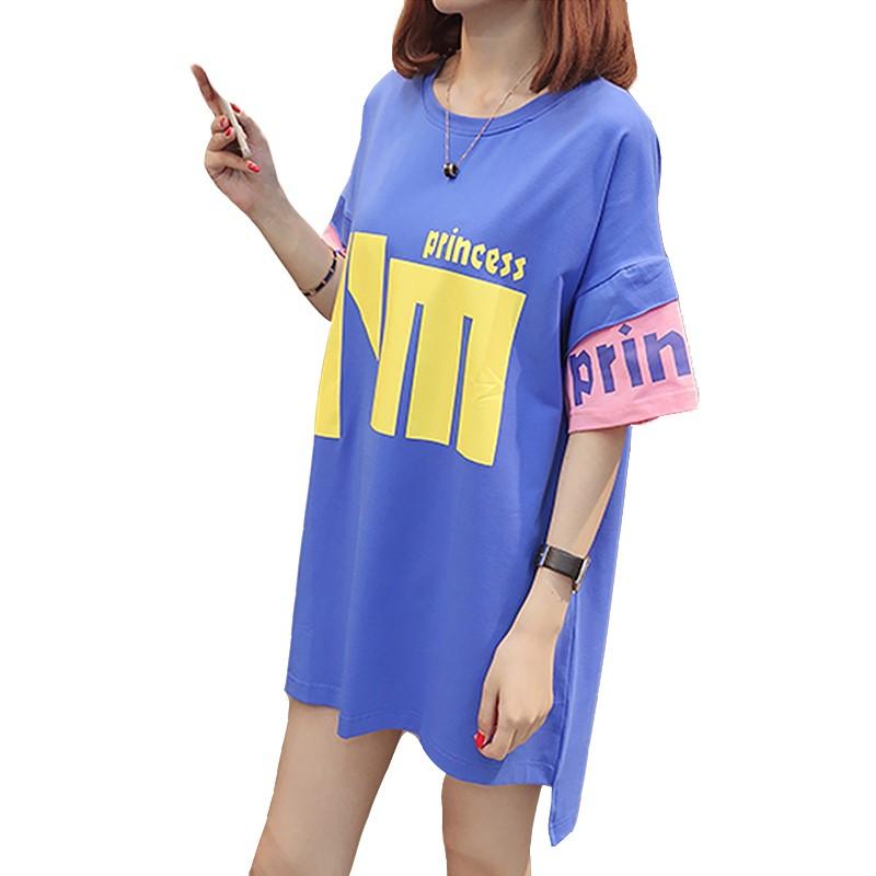 [懿嘉店铺T恤]孕妇短袖t恤中长款夏季中长裙妊娠纹连月销量0件仅售48.44元