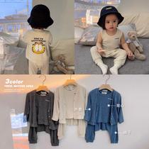 辰辰妈男女宝宝春秋薄款三件套装时尚洋气一岁小童婴幼儿春夏洋气