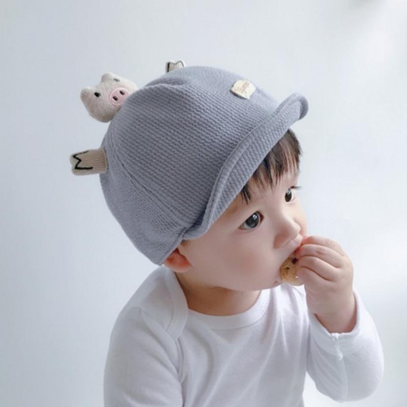 宝宝帽子秋冬婴幼儿遮阳帽可爱婴儿帽子春秋鸭舌帽男女童棒球帽潮