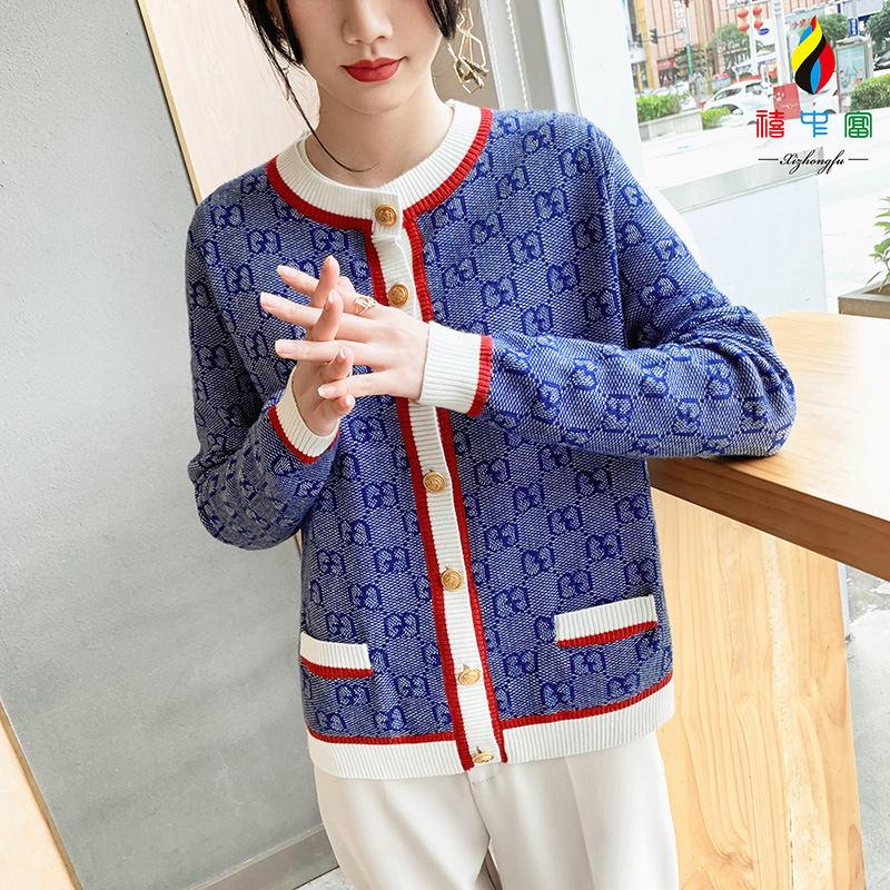 New popular European and American jacquard knitted sheep sweater in spring and summer 2020