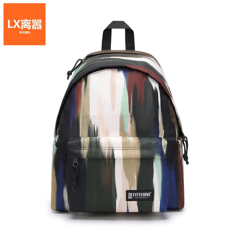 LX Li Xiao mens bag double shoulder bag simple fashion casual mens backpack large capacity computer bag Street trend
