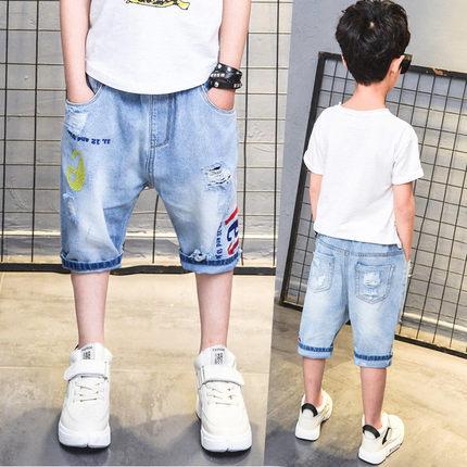 男童牛仔夏季2019新款童装五短裤子