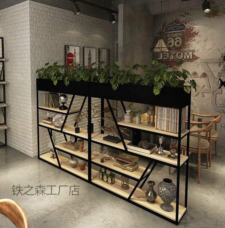 尚品宜家具家用工业风屏风客厅网格铁网玄关办公室柜置物架酒吧餐