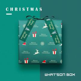 华生盒只原创设计ins圣诞节包装纸生日礼物盒情侣儿童送礼礼品盒图片