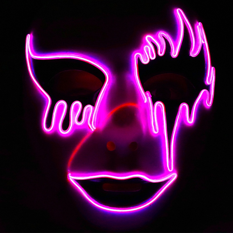 LED luminous mask new stock horror Carnival Halloween cheer atmosphere props horror