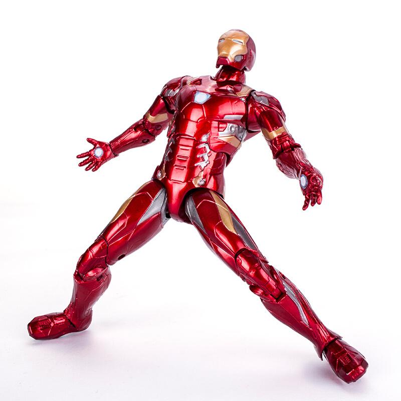 中动正版漫威超级英雄复仇者联盟3人偶手办钢铁侠美国队长4蜘蛛侠