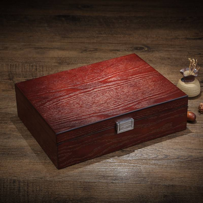 Fraxinus ash wood wood jewelry storage box hand jewelry bracelet ring collection display box