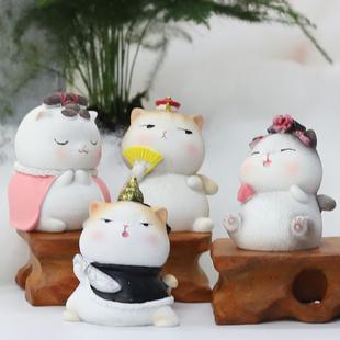 礼物生日创意同学宫廷猫办公室复古装饰品小摆件女生桌面送老师