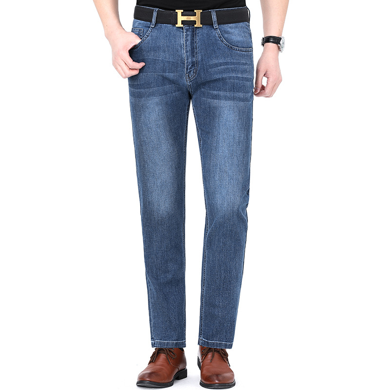 New product 2021 huagongzi jeans mens straight middle-aged fashion new business leisure pants