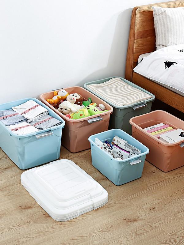20新款收纳箱塑料特大号家用衣服被子整理箱玩具收纳盒有盖搬家储
