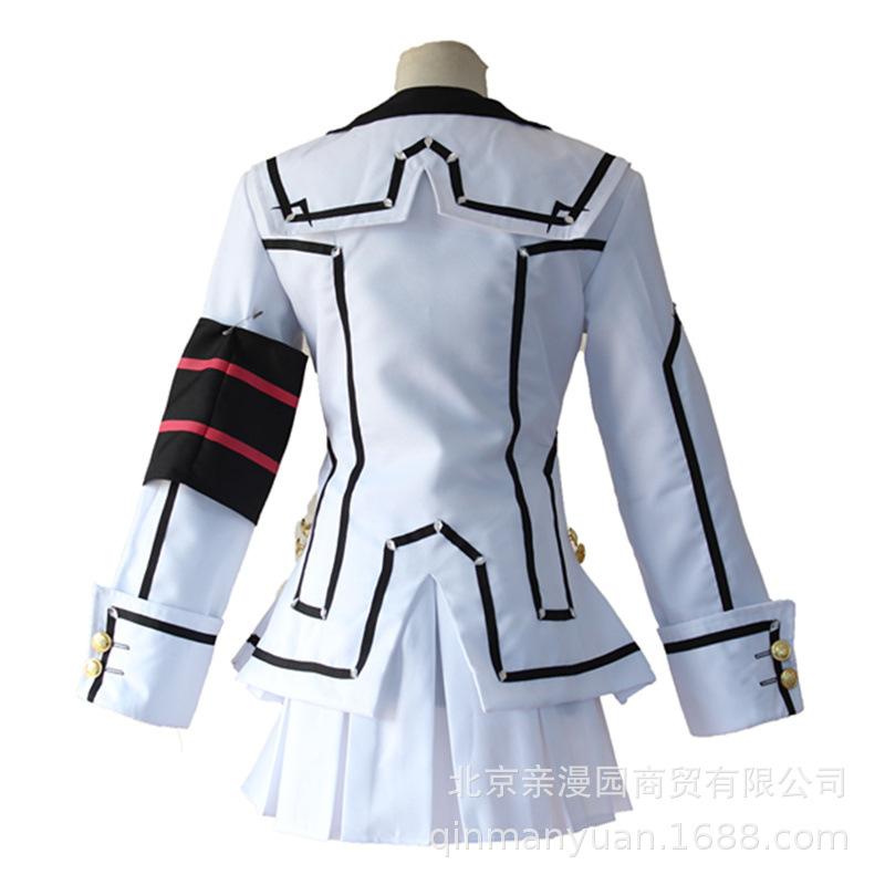 【】动漫吸血鬼骑士早园瑠佳cos服白制校服cosplay服装现货