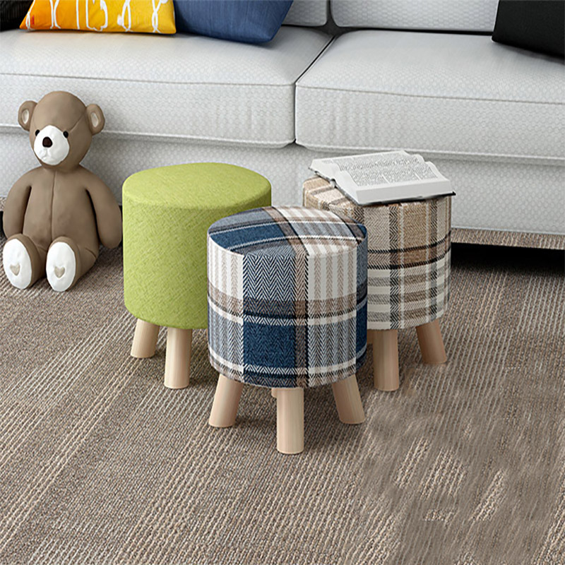 小凳子矮凳家用时尚创意网红宜家小板凳实木布艺沙发凳子卧室懒人
