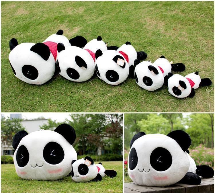 毛绒玩具可爱的微笑趴趴熊猫抱枕/生日礼物/熊猫大号公仔女生