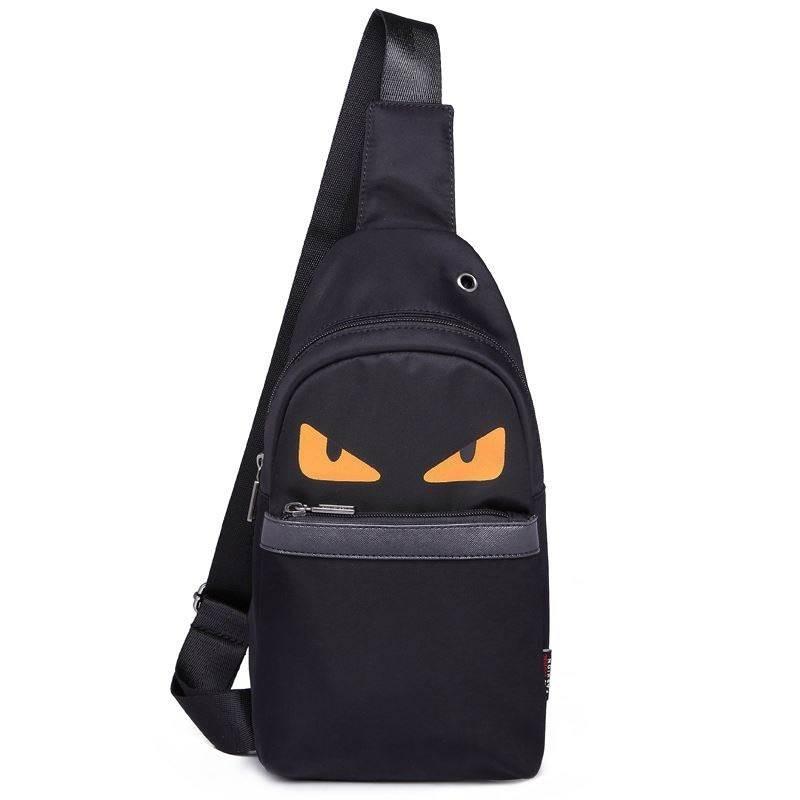 Mens chest bag chest small backpack single shoulder bag straddle bag mens soft leather boast Bag Messenger Bag Korean fashion leisure