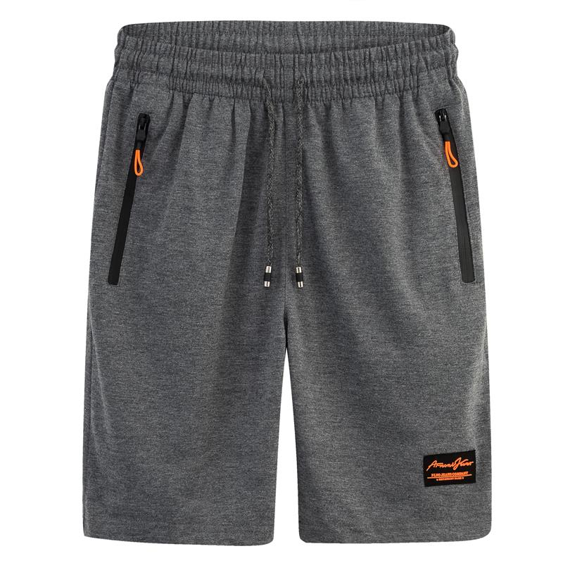 Mens summer sports pure cotton shorts breathable quick dry loose beach pants casual pants Capris running breathable