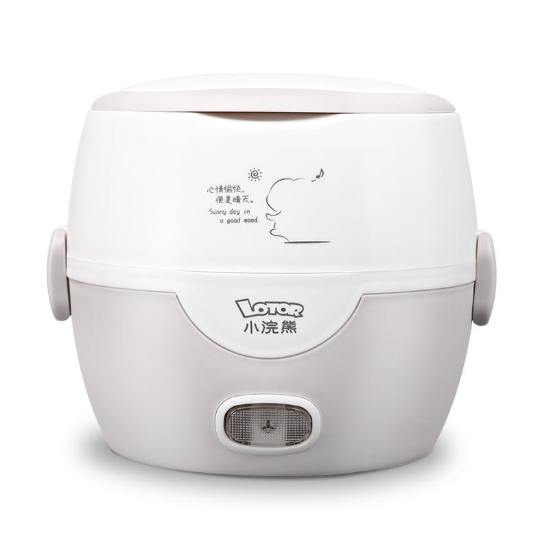 小浣熊加热保温桶可插电便携式蒸煮便当盒自动电热饭盒上班族充电