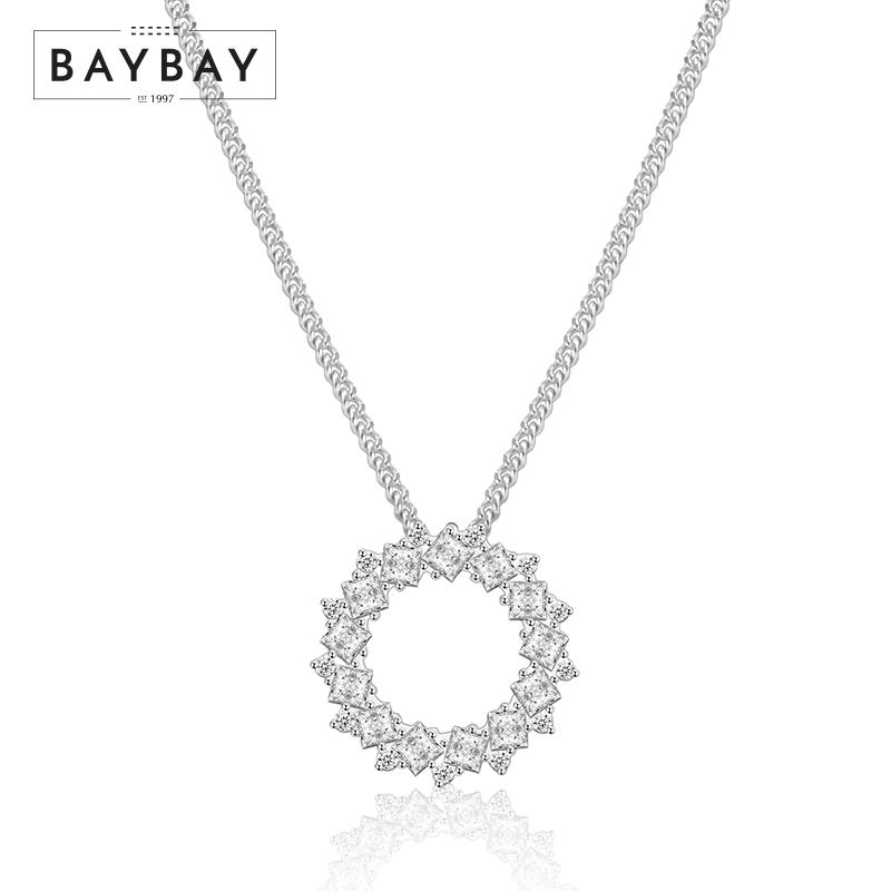 Baybay Tiffany breakfast series angel halo crystal necklace nsn00695