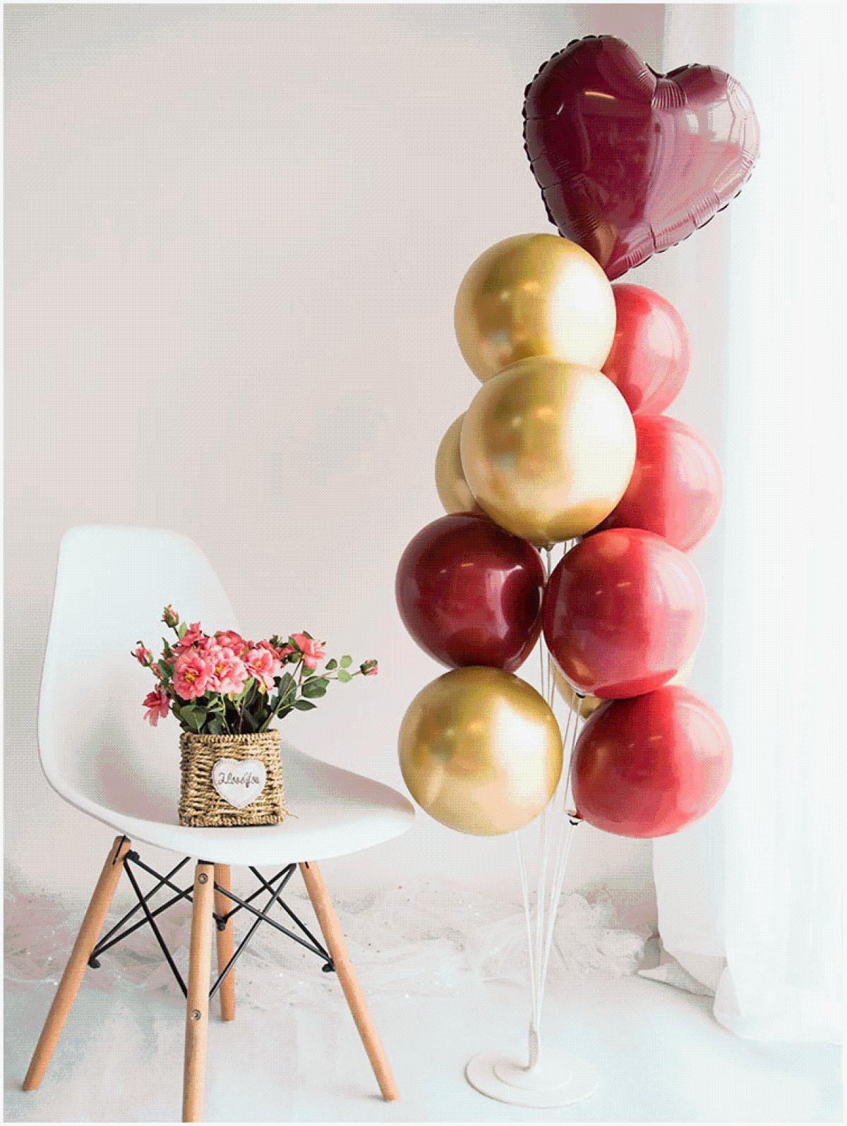 中秋国庆节装饰桌飘气球立柱场景布置用品店铺装饰气球创意拱门