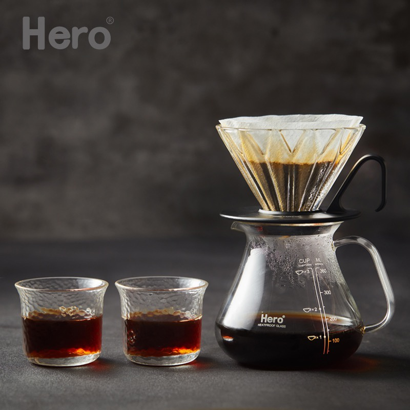 [hammered glass for lips] coffee cup, tea cup with extended mouth, high temperature resistant
