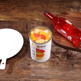桃壹佰什锦罐头6罐X425g整箱糖水砀山新鲜水果罐头菠萝梨黄桃椰果图片
