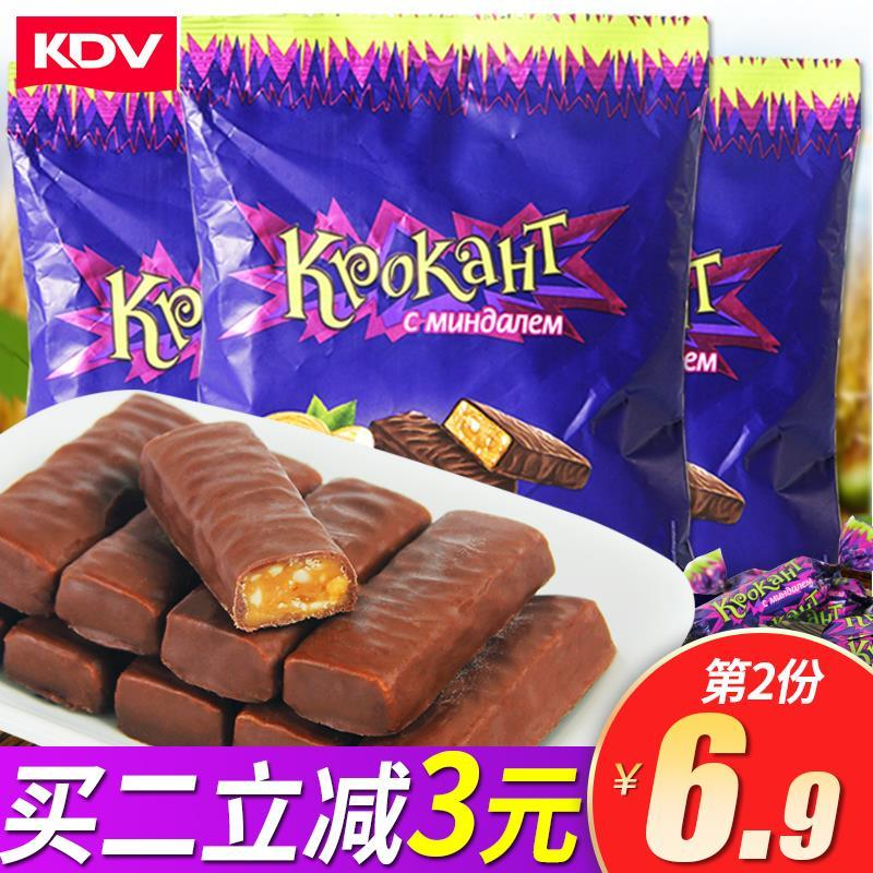 KdV purple Caramel Russian authentic imported original chocolate snack bulk candy, camptothecin 100g