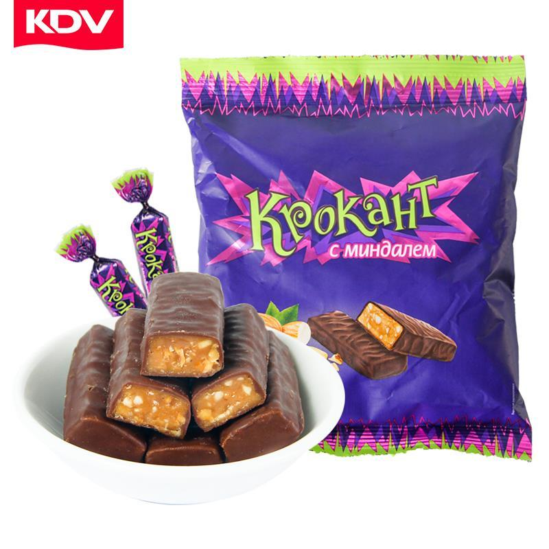 KdV purple Caramel genuine candy chocolate sandwich candy net red snack bulk camptothecin imported from Russia