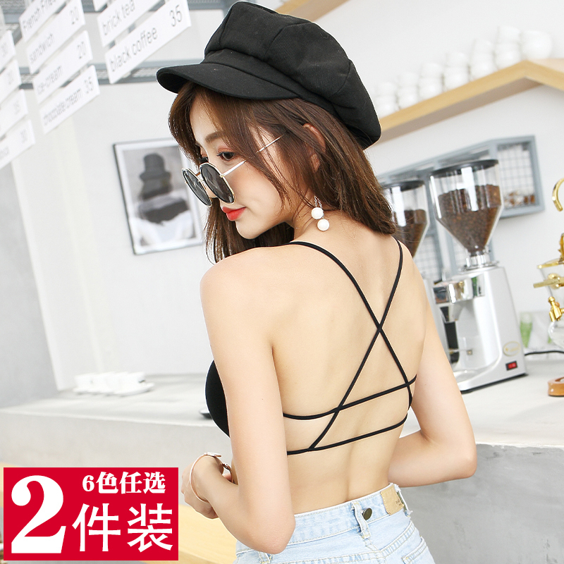 Beautiful back underwear women sexy net popular no steel ring wrapped chest thin suspender bra large chest small chest