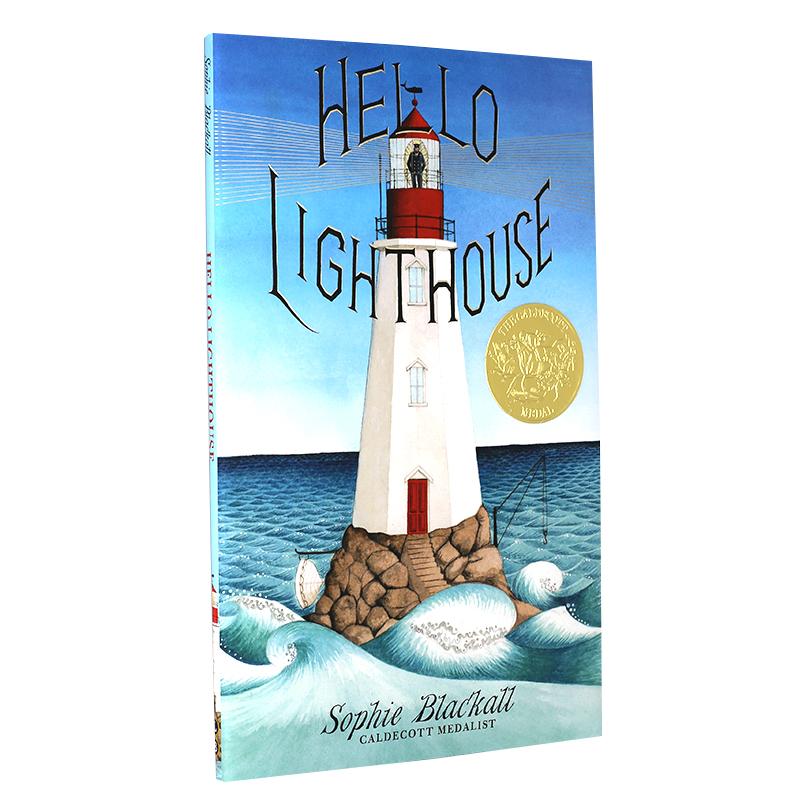 你好 灯塔 英文原版童书 Hello Lighthouse 进口英文绘本 2019年凯迪克金奖 精装 苏菲布莱克尔 5-8岁儿童 暖心亲子艺术启蒙 全彩