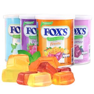 印尼进口雀巢霍士FOX'S水晶糖3罐 透明硬质糖果可以吃很久的零食
