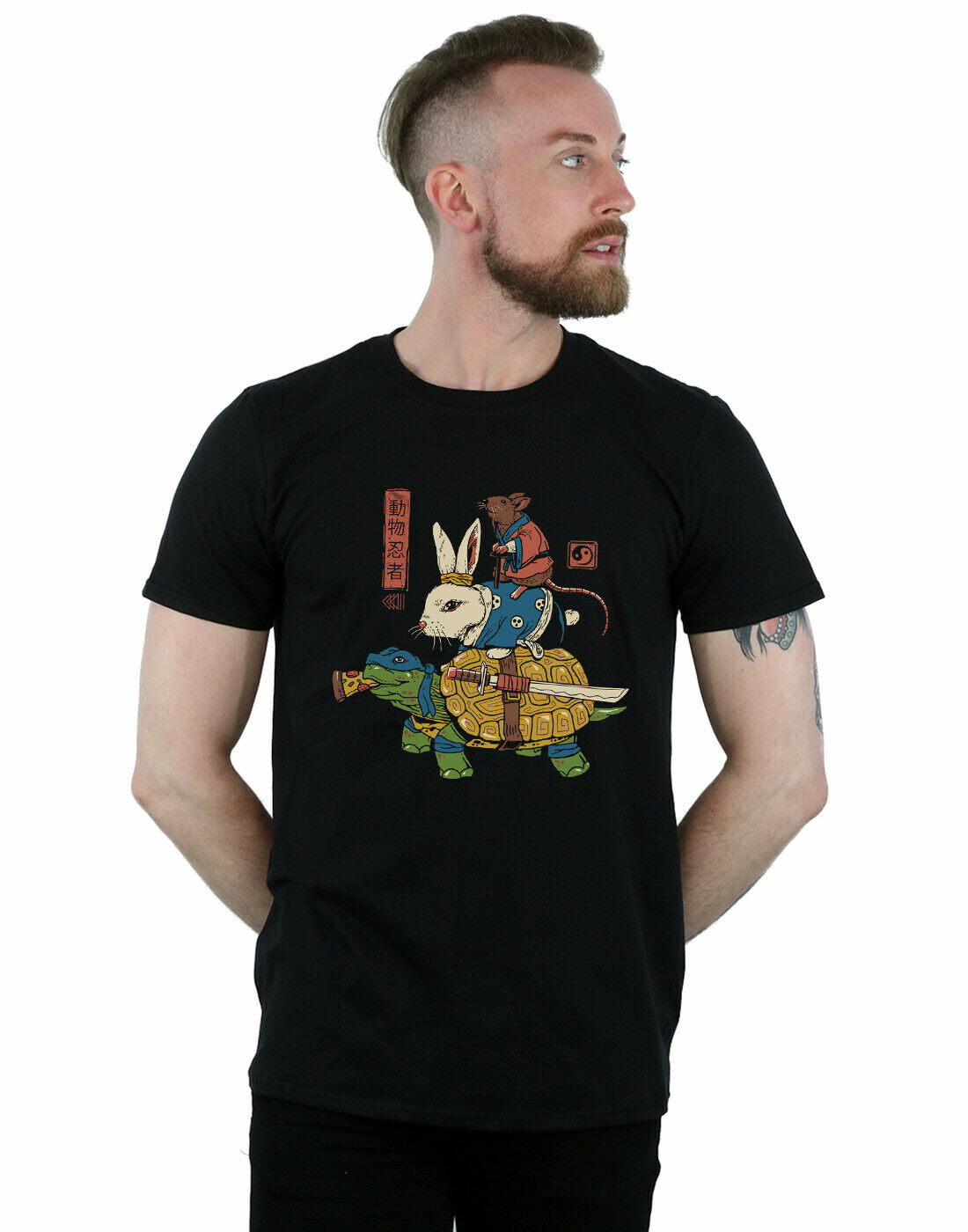 Vincent Trinidad mens Kam Usagi T-Shirt NEW ultra fire creative printing and dyeing short sleeve trend