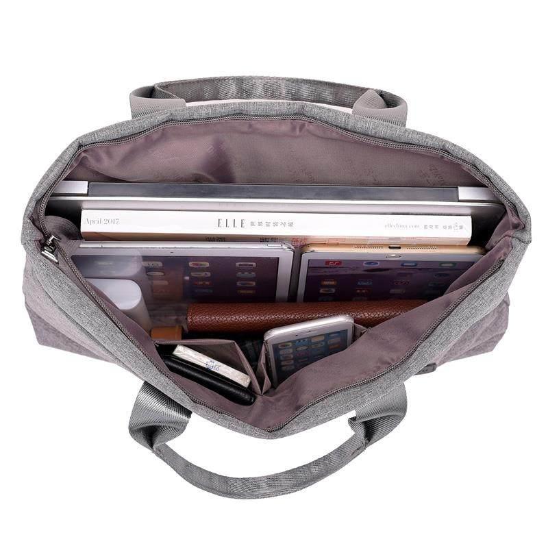 简约商务手提包女公文包1.寸14寸15.6寸笔记本电脑包男ol文件袋