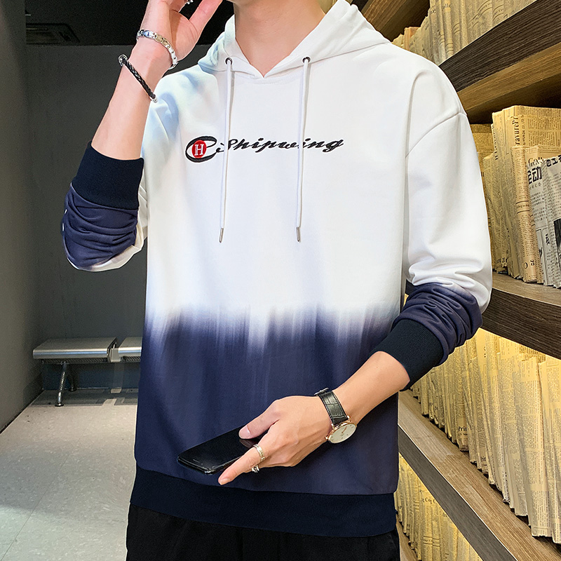 Mens Hoodie spring and autumn long sleeve Korean fashion student versatile Pullover 2020 new autumn mens wear
