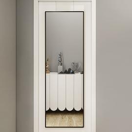 挂门镜子挂墙穿衣镜落地镜家用全身镜贴墙壁挂试衣镜自粘门后镜