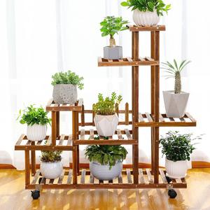 多肉花架子室内实木花盆架客厅多层落地式植物盆栽阳台置物架简约