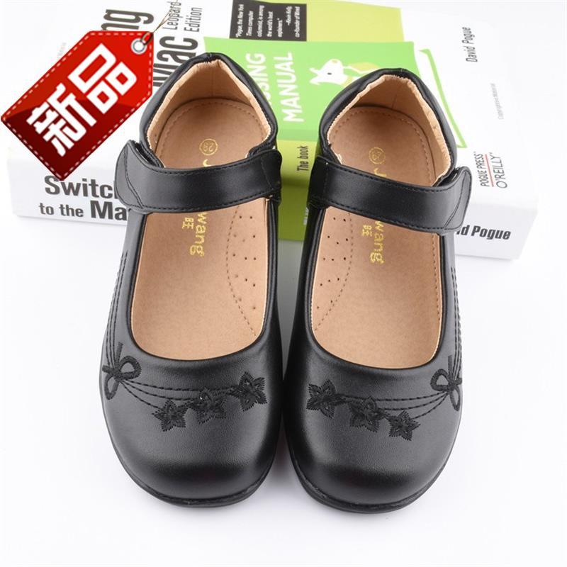 平跟鞋女童鞋7岁儿童用平底鞋花童童装单鞋童儿女童演出t鞋。裙子