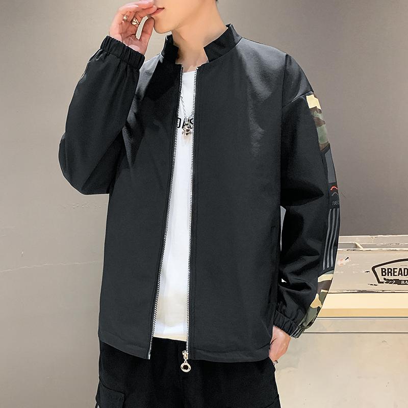 2020年春秋季新款男士夹克休闲时尚流行上衣外套男日常百搭款