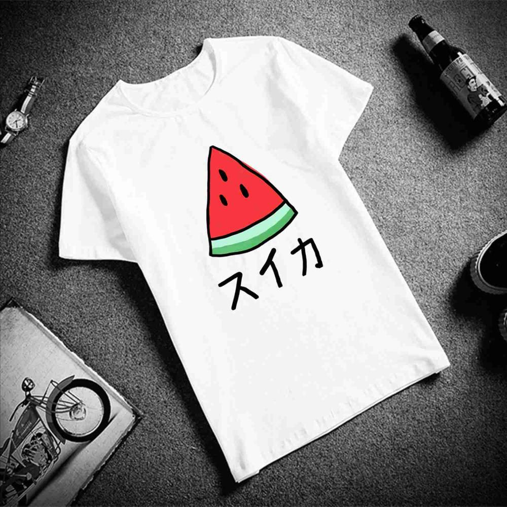 Watermelon Printed Female Top T-shirt Women Summer Basic