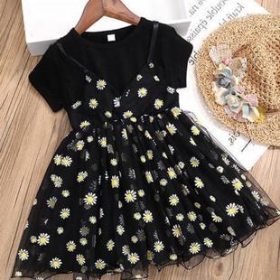 女童夏装2020年新款夏季洋气连衣裙