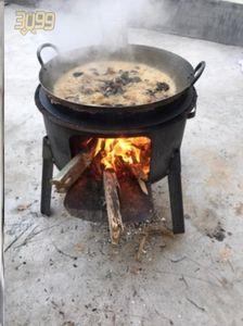 烤火土灶室内烧柴灶铁锅灶台农村厨具户外便携式柴火炉灶劈柴炉