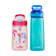 Contigo Condick Cold Drinking Pipette Cup, Blue Children's Water Cup, Insulated Duck-billed Cup, Learning Drinking Cup