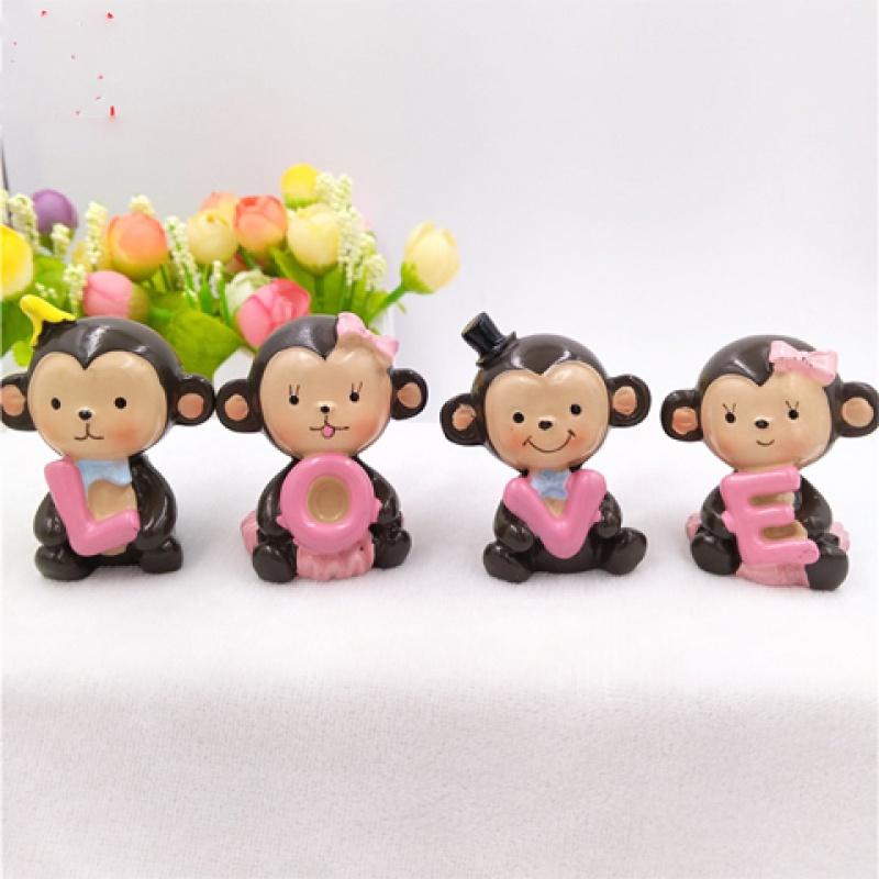 车载摆件小猴子车饰装饰创意内饰情景用品桌上小摆件饰品