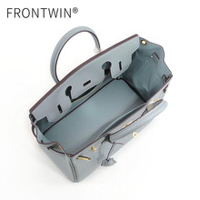 Frontwin Italian leather platinum bag bridal bag 2019 new women's bag Kelly's hand-held diagonal straddle bag women