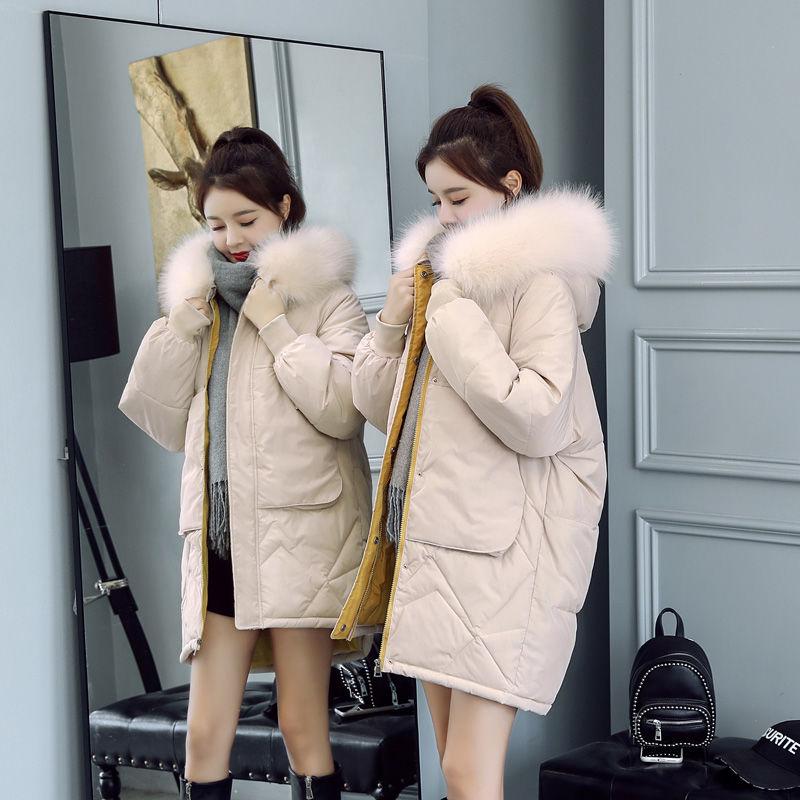 中长款棉服女新款韩版宽松显瘦加厚ins反季羽绒棉衣外套女冬15
