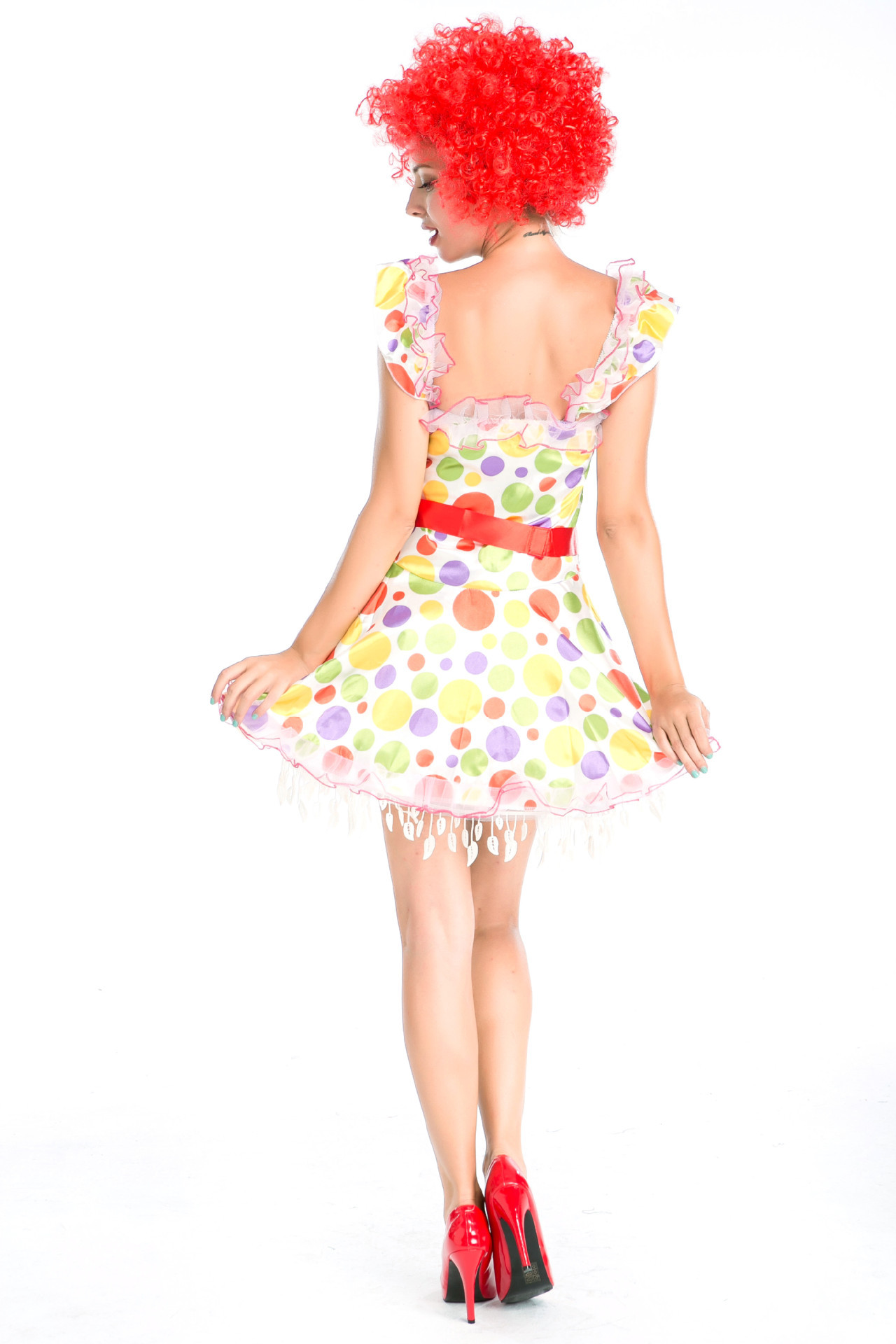 Circus Clown role play costume cartoon costume with wig Denis cosplay costume Halloween Costume