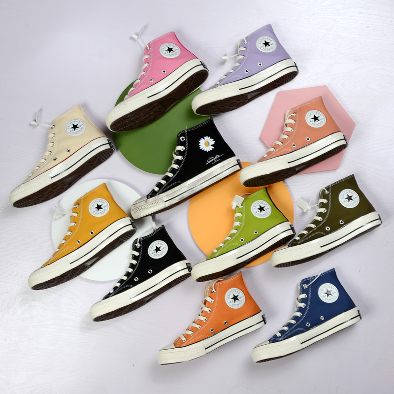 R converse Les authentic Quan Zhilongs same 1970s canvas shoes womens shoes mens shoes small daisy high low top shoes