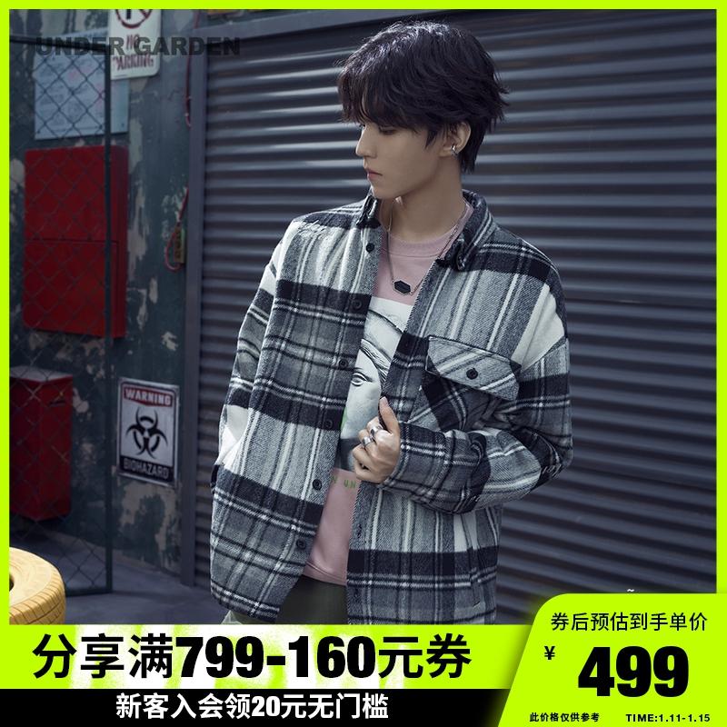 UNDER GARDEN王俊凱同款棉服夾克2020新款復古格紋刺繡外套7199