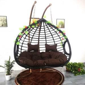 促销藤椅摇篮吊椅双人户外秋千庭院家具家用住宅吊篮阳台室内粗藤